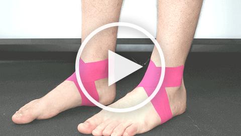 Как наложить тейп на голеностопный сустав восстановление тазобедренного сустава